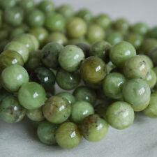 Grade A Natural olivinite (Vert) Gemstone Round Bead - 4 mm 6 mm 8 mm 10 mm