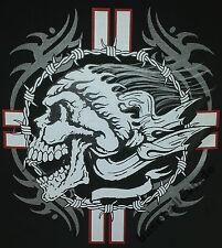 T-shirt #228 SKULL Route 66 BIKER USA Custombike HOT ROD MOTO USA Bones