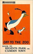 Regents Park London 1915 Off To The Zoo Vintage Poster Print Art Tourism Travel