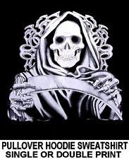 GRIM REAPER SKELETON SKULL DEMON DEATH DEALER GOTHIC HOODIE SWEATSHIRT WS12