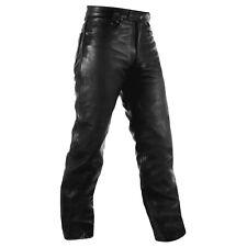Pantalon Chopper Moto Leather Pants Jeans 5 bolsillos Jeans Piel American