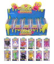 6 12 36 or 60 Mini Sticky Creatures Party Bag Filler Sticky Splatter Novelty Toy