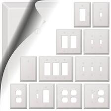 Oversized White Switch Plates
