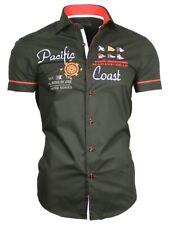 Hemd Herrenhemd Kurzarm Kurzarmhemd bestickt schwarz 82005 Binder de Luxe