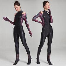 Alita Battle Angel Jumpsuit Womens Girls Costume Cosplay Black Tight Bodysuit