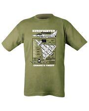 New MENS MILITARY Outdoor Eurofighter Typhoon 100% Cotton Green T-shirt Tshirt