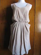 Walter women's beige scoopneck lined Anita dress size Medium Large NWT
