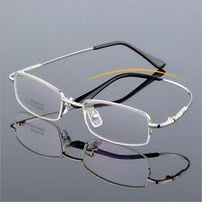 Memory Titanium Flexible Eyeglass Frames Half Rim Glasses myopia Rx able Eyewear