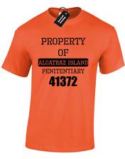 Propiedad de Alcatraz para hombre Camiseta cárcel prisión Vestido Elegante Diseño Divertido criminal