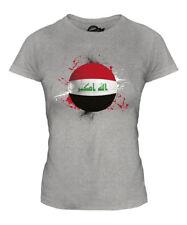IRAQ FOOTBALL LADIES T-SHIRT TEE TOP GIFT WORLD CUP SPORT