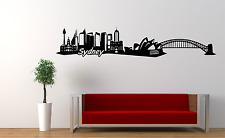 Sydney Harbour Bridge horizonte Opera House Australia Pared Calcomanía Adhesivo Sk7
