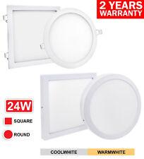24 W LED Luz de panel de techo empotrados montaje en superficie redondo o cuadrado de 300 X 300