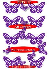15 Cadbury Purple Pre-Cut Filigree butterflies edible wafer paper cupcake topper