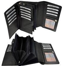 XXL Geldbörse mit RFID Schutz feines Rindleder Portemonnaie Geldbeutel Damen