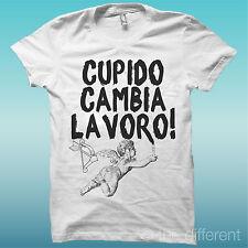 """CAMISETA """" CUPIDO CAMBIA TRABAJO """" BLANCO LA HAPPINESS IS HAN MY CAMISETA NUEVO"""
