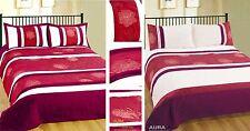Burgundy Duvet Cover Bedding Set Bedspread Single Double King Floral Embellished