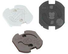 Kinderschutz Teddy Automatic für Steckdose, weiß, schwarz oder braun, je 5 Stück