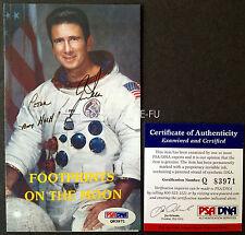 "JIM IRWIN Signed Photo ""Aim High"" Auto Apollo 15 Astronaut PSA/DNA COA Autograph"