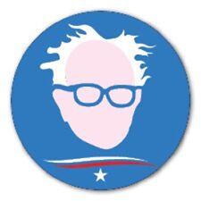 Round Bernie Sanders Star Swoosh Blue sticker decal