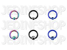 BCR Hoop CBR - 1.6mm (14g) - 10mm - Titanium Anodised - Ball Closure Ring