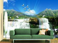 3D Cascata 108 Parete Murale Foto Carta da parati immagine sfondo muro stampa