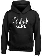 Ballet Girl Kids Childrens Hooded Top Hoodie