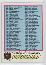 1977-78 Topps #249 Checklist Hockey Card