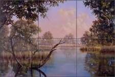 Landscape Tile Backsplash Binks Lodge Art Art Ceramic Mural REB003