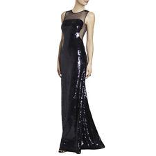 $648 BCBG Evangeline Mermaid Purple Carbon Paillette Sequin Dress S L