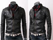 Mens Strap Pocket Slim Fit Stylish Sheepskin Leather Jacket