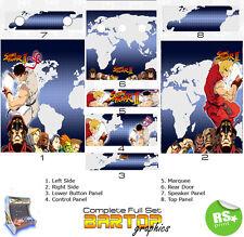 Street Fighter 2 completo/medio Juegos Arcade Pegatinas Gráficos/Laminado Todos Los Tamaños