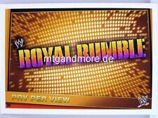 Slam Attax rebelión - #205 Royal Rumble-Pay Per View