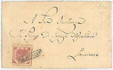 ANTICHI STATI - NAPOLI : Sassone 6a SU BUSTA 1860
