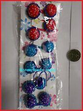 small PURPLE red blue hamburger Scrunchie hair tie girl Balls Ponytail Holder