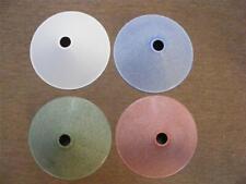 "deco bakelite light shade,plain coolie shade,white,pink,blue,green,9"" diameter"