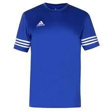 Da Uomo Adidas 3 Stripe Estro entrda T-shirt Cobalto/Bianco/Blu NUOVO con etichette S-2XL