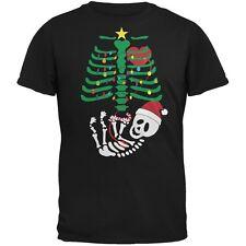 Christmas Tree Baby Skeleton Candy Cane Black Adult T-Shirt