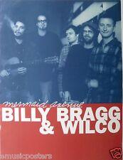 "Billy Bragg & Wilco ""Mermaid Avenue"" U.S. Promo Poster - Chicago & U.K. Alt Rock"
