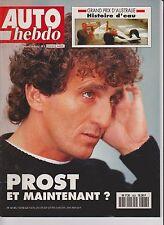 AUTO HEBDO N°803.1991. GP AUSTRALIE. ALPINE A610 TURBO. CORVETTE LT-1. PROST