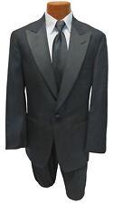Men's Black Tuxedo Jacket with Satin Peak Lapels Halloween Bond Spy 007 Costume
