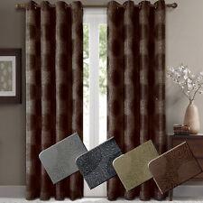 Set of 2 Lexington Jacquard Grommet-Top 100% Polyester Window Curtain Panels
