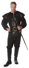 Defender Adult Men's Costume Lace Front Black Shirt Halloween Underwraps