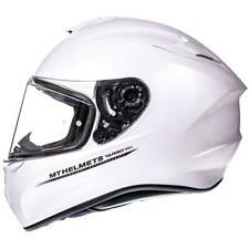 MT TARGO SOLID GLOSS WHITE MOTORCYCLE MOTORBIKE BIKE HELMET MAX VISION
