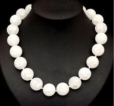 Kette Halskette aus Bergkristall schöne Formen Collier Edelstein weiß Glück Neu