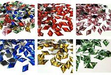 DIAMANTE DIAMOND SHAPE CRYSTAL RHINESTONE EMBELLISHMENT 2 HOLE CRAFT 17x10mm