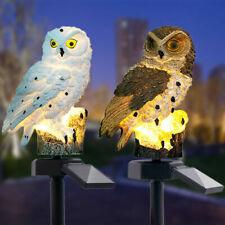 Owl Solar LED Garden Lights Lawn Ornament Outdoor Waterproof Novelty Lamp Decor