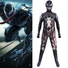 Kid Children Boys Venom Spiderman Cosplay Jumpsuit Masquerade Costume Halloween