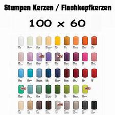 16 Stumpen Kerzen 100x60mm 1.Wahl Qualität / Kerzen Wiedemann / neue Farben 2016