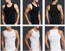 Mens Slimming Body Shaper shirt  Compression Vest Mens Tshirt
