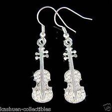 w Swarovski Crystal Violin Fiddle Viola Cello Music Musical Earrings Jewelry New